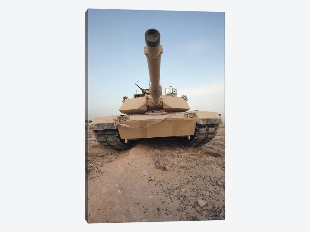 An M-1A1 Main Battle Tank by Stocktrek Images 1-piece Canvas Wall Art