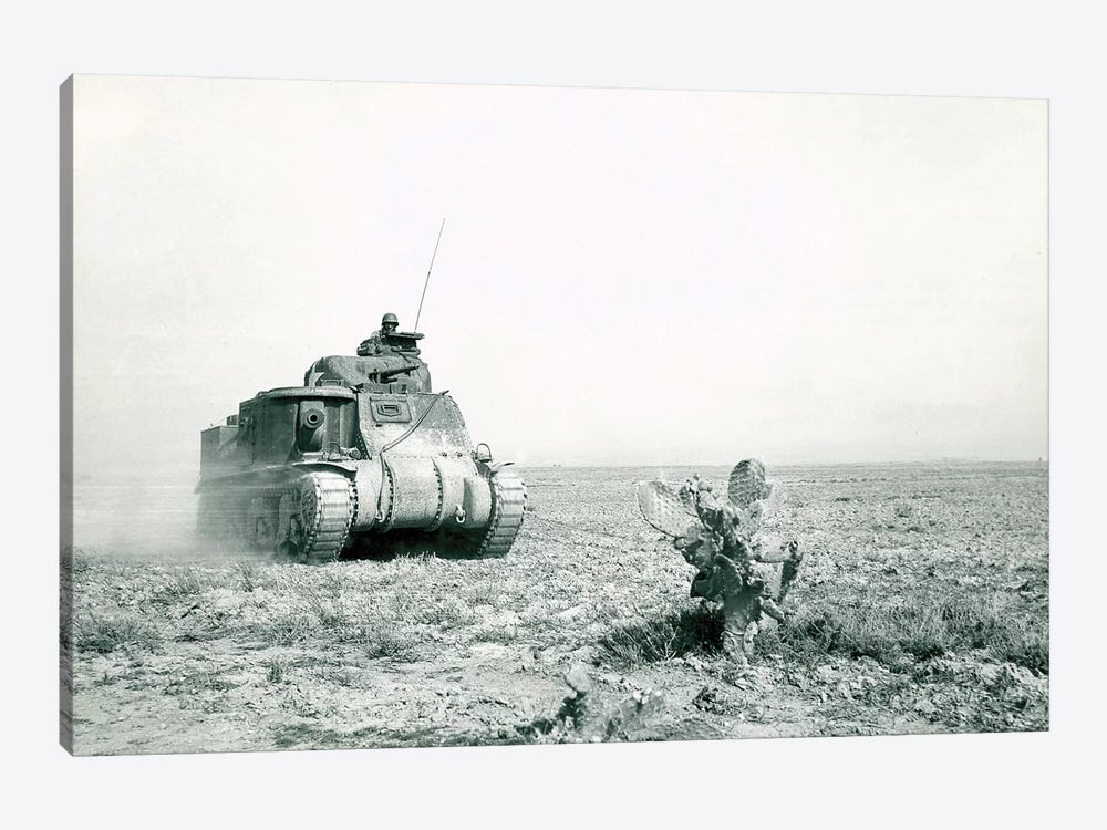 An M3 Grant Tank On The Move During The Battle Of Kasserine Pass, Tunisia by Stocktrek Images 1-piece Art Print