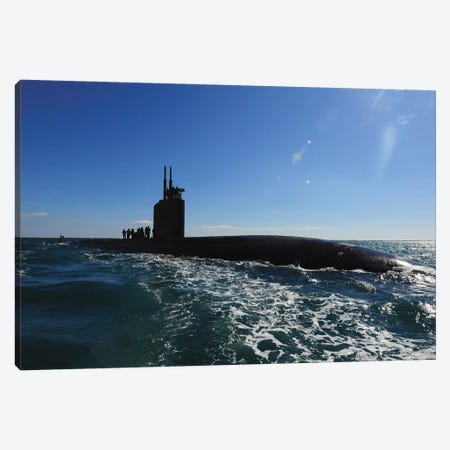 Attack Submarine USS Scranton Pulls Into Augusta Bay Canvas Print #TRK762} by Stocktrek Images Canvas Art