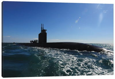 Attack Submarine USS Scranton Pulls Into Augusta Bay Canvas Art Print