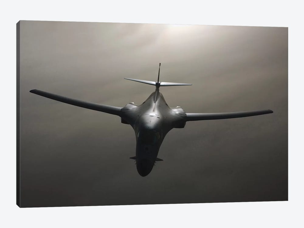 B-1 Bomber In Flight by Stocktrek Images 1-piece Canvas Art Print