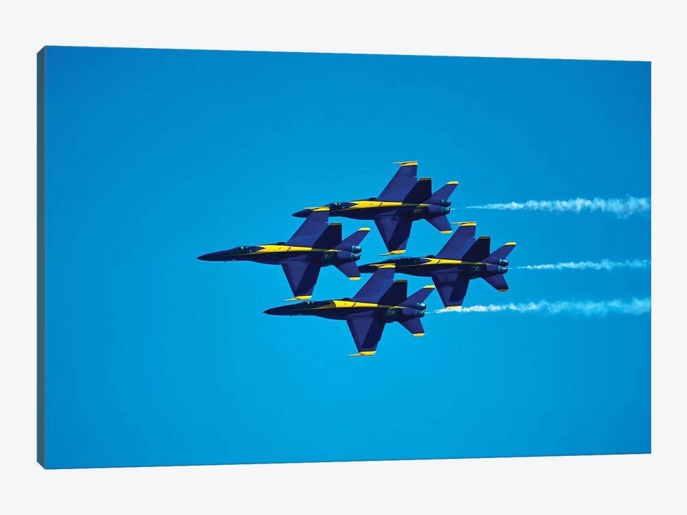 Blue Angels Flying In Formation by Stocktrek Images 1-piece Canvas Artwork