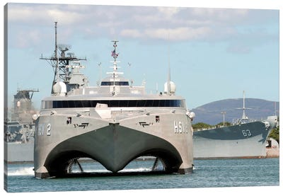Bow On View Of The US Navy Experimental High Speed Vehicle 2 (HSV-2) Swift Canvas Art Print
