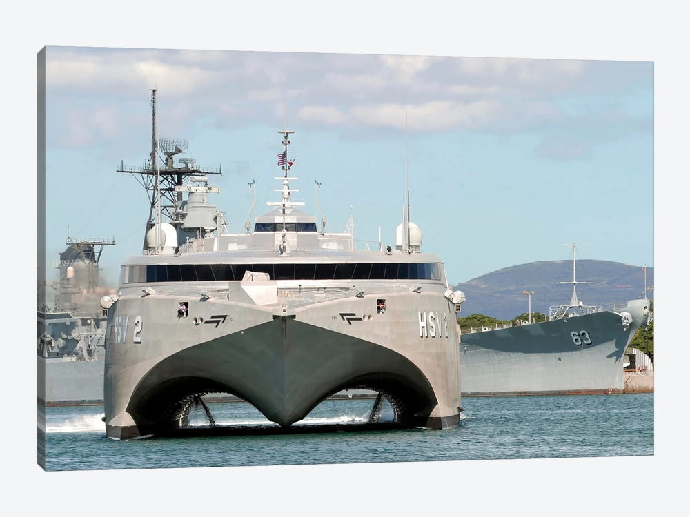Bow On View Of The US Navy Experimental High Speed Vehicle 2 (HSV-2) Swift by Stocktrek Images 1-piece Art Print