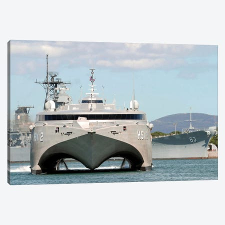 Bow On View Of The US Navy Experimental High Speed Vehicle 2 (HSV-2) Swift Canvas Print #TRK774} by Stocktrek Images Canvas Art