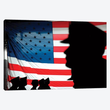 Chief Petty Officers Aboard Dock Landing Ship USS Harpers Ferry Canvas Print #TRK780} by Stocktrek Images Canvas Wall Art