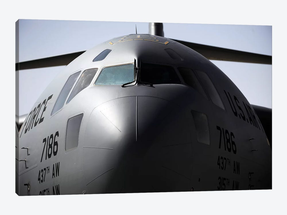 Close-Up Of The Front Of A C-17 Globemaster III by Stocktrek Images 1-piece Canvas Artwork