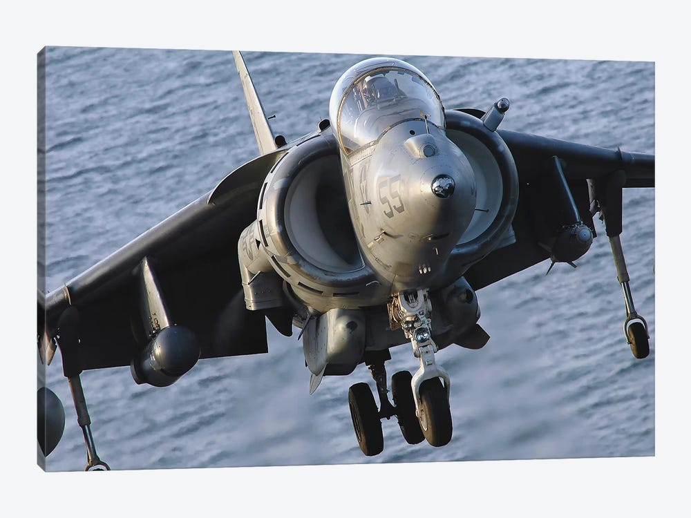 Close-Up View Of An AV-8B Harrier II by Stocktrek Images 1-piece Canvas Art Print