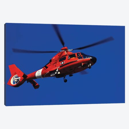 Coast Guard Helicopter Canvas Print #TRK785} by Stocktrek Images Canvas Print