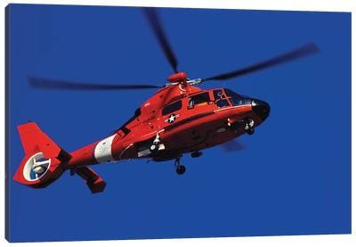 Coast Guard Helicopter Canvas Art Print