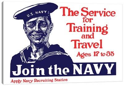 Vintage WWI Poster Of A Smiling US Sailor Canvas Art Print