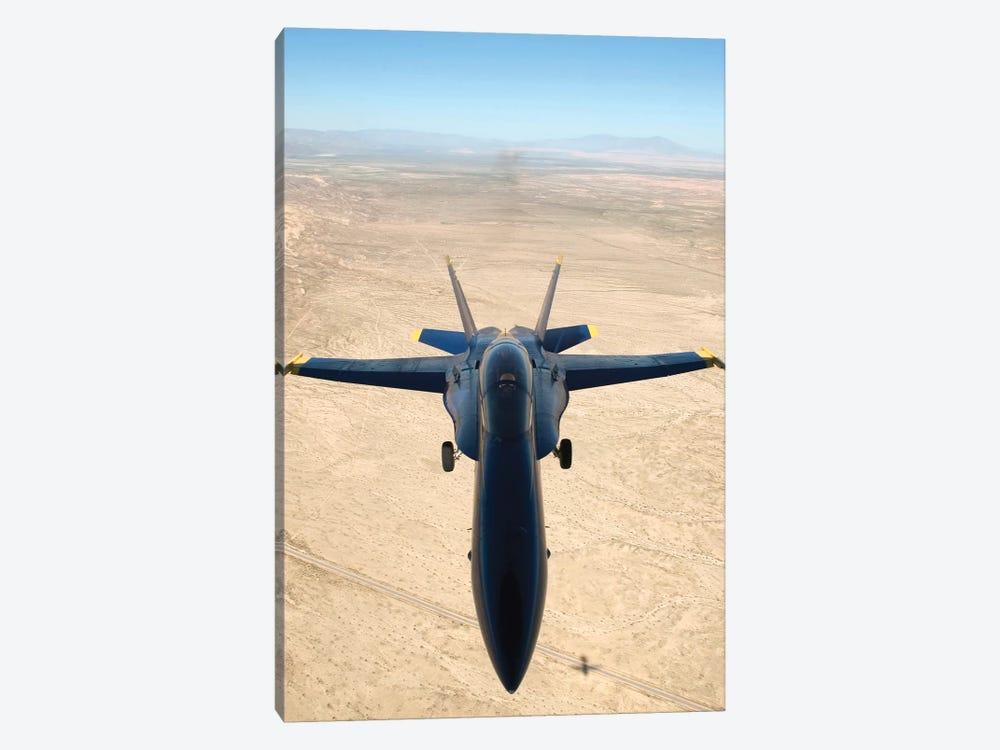 F/A-18A Hornet Flys Over The Desert Landscape Of Imperial Valley by Stocktrek Images 1-piece Canvas Art Print