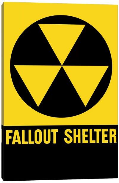 Cold War Era Fallout Shelter Sign Canvas Art Print