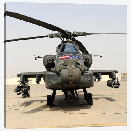 Front View Of An AH-64D Apache Longbow Canvas Print #TRK831} by Stocktrek Images Canvas Art