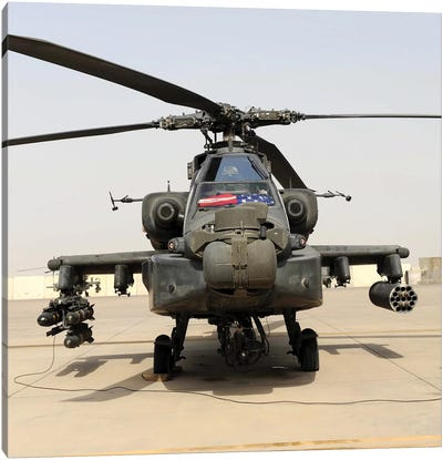 Front View Of An AH-64D Apache Longbow Canvas Art Print