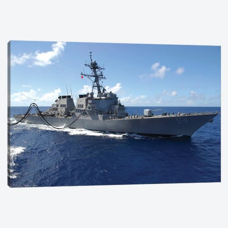 Guided Missile Destroyer USS Curtis Wilbur Canvas Print #TRK836} by Stocktrek Images Canvas Print