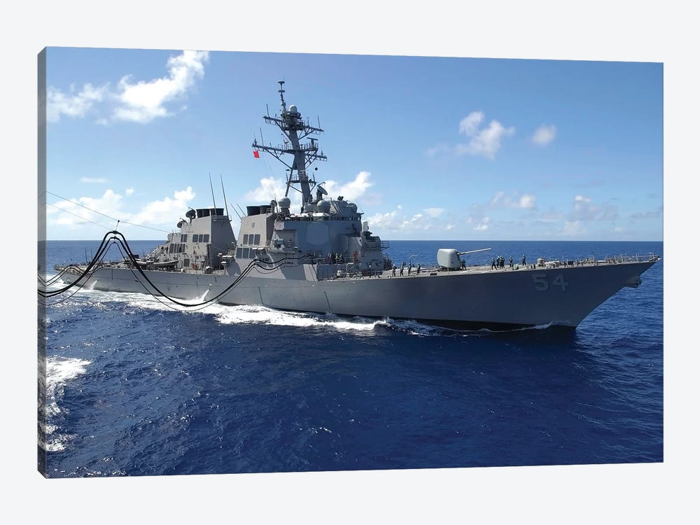 Guided Missile Destroyer USS Curtis Wilbur by Stocktrek Images 1-piece Canvas Art Print