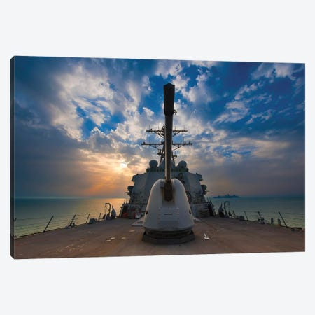 Guided-Missile Destroyer USS Higgins Canvas Print #TRK838} by Stocktrek Images Canvas Artwork