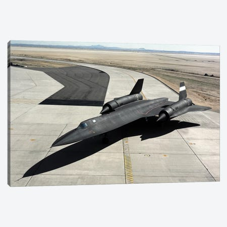 High Angle View Of A SR-71A Blackbird Canvas Print #TRK839} by Stocktrek Images Canvas Art
