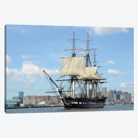 HMS Guerriere In Boston Harbor Canvas Print #TRK840} by Stocktrek Images Canvas Art Print