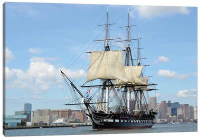 USS Constitution In Boston Harbor Canvas Art Print