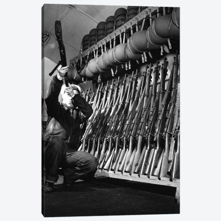 Looking Over Guns In Guard Room Canvas Print #TRK849} by Stocktrek Images Canvas Print