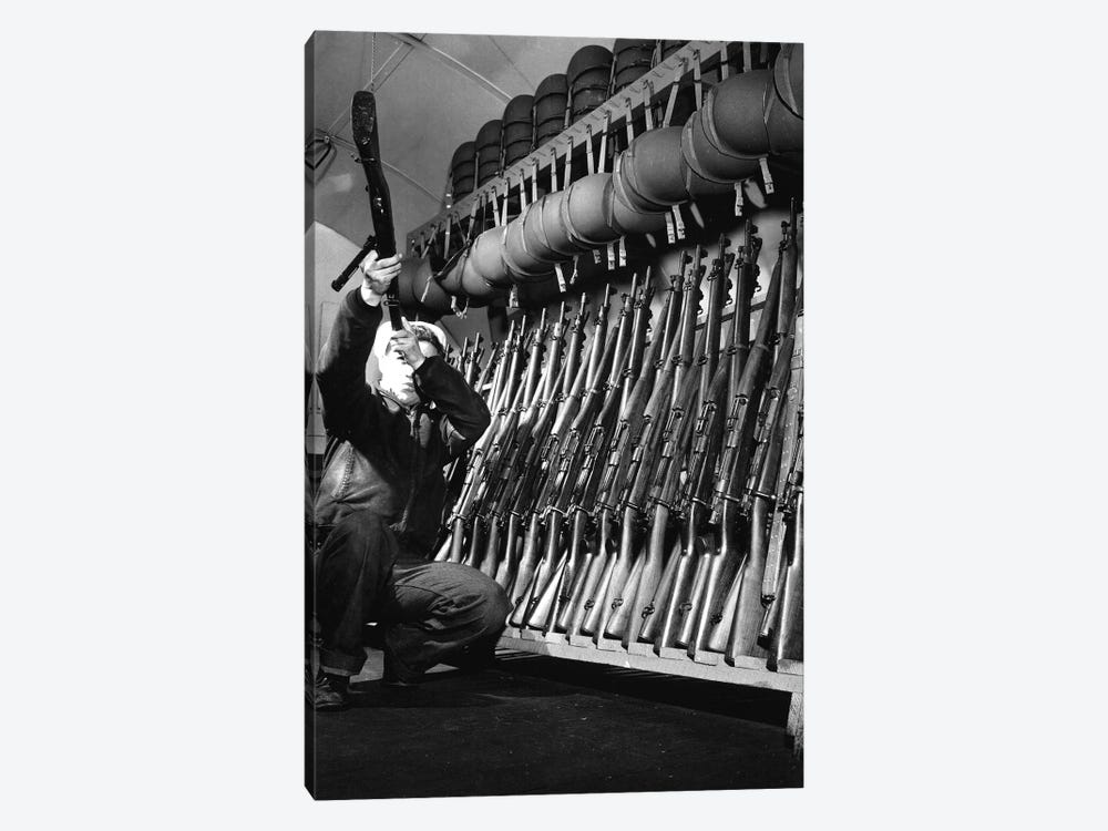 Looking Over Guns In Guard Room by Stocktrek Images 1-piece Art Print