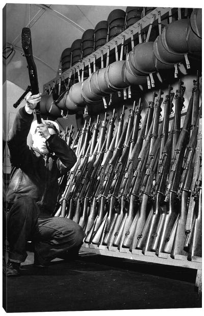 Looking Over Guns In Guard Room Canvas Art Print