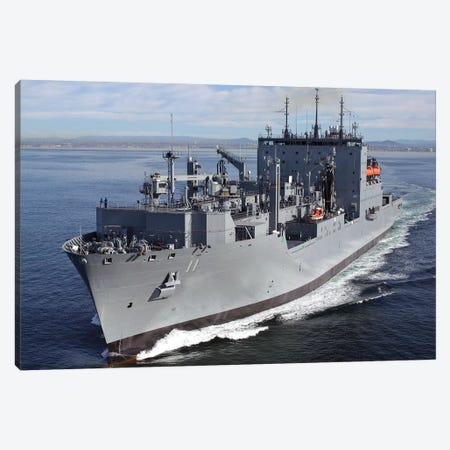 Military Sealift Command Dry Cargo And Ammunition Ship USNS Washington Chambers Canvas Print #TRK866} by Stocktrek Images Canvas Wall Art