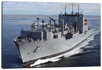 Military Sealift Command Dry Cargo And Ammunition Ship USNS Washington Chambers Canvas Art Print