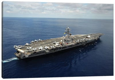 Nimitz-Class Aircraft Carrier USS Dwight D. Eisenhower Canvas Art Print