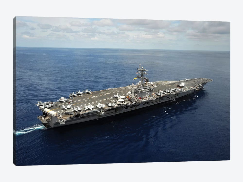 Nimitz-Class Aircraft Carrier USS Dwight D. Eisenhower by Stocktrek Images 1-piece Canvas Wall Art