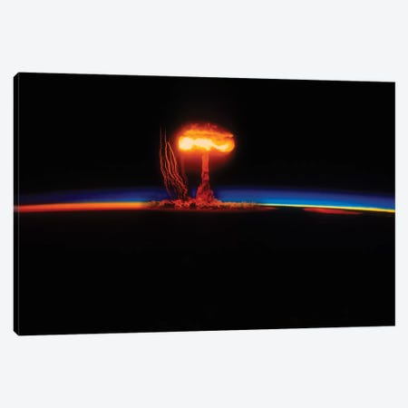 Nuclear Explosion Canvas Print #TRK869} by Stocktrek Images Canvas Art Print