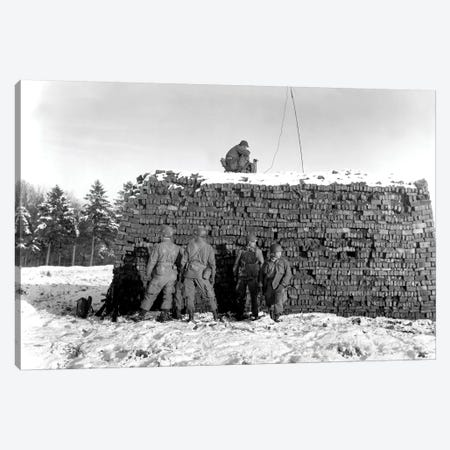 Paratroopers Set Up Radar Equipment Near Bastogne, Belgium Canvas Print #TRK876} by Stocktrek Images Art Print