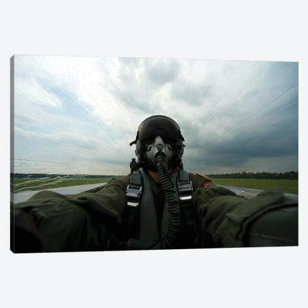 Self-Portrait Of An Aerial Combat Photographer Canvas Print #TRK894} by Stocktrek Images Canvas Print