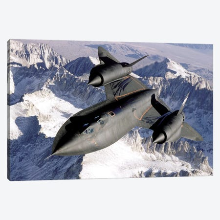 SR-71B Blackbird In Flight Canvas Print #TRK928} by Stocktrek Images Canvas Wall Art