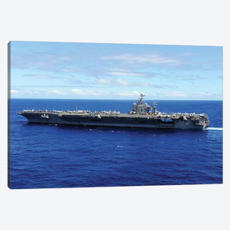 The Aircraft Carrier USS Abraham Lincoln Transits Across The Pacific Ocean Canvas Print #TRK937} by Stocktrek Images Canvas Artwork