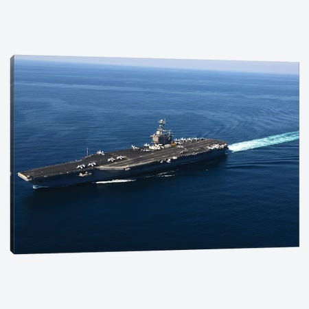 The Aircraft Carrier USS John C. Stennis Canvas Print #TRK938} by Stocktrek Images Art Print