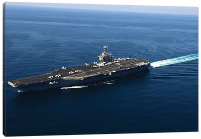 The Aircraft Carrier USS John C. Stennis Canvas Art Print
