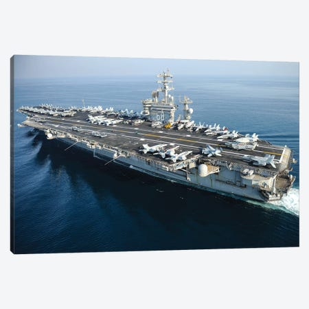 The Aircraft Carrier USS Nimitz Underway In The Arabian Gulf Canvas Print #TRK939} by Stocktrek Images Art Print