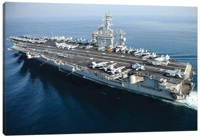 The Aircraft Carrier USS Nimitz Underway In The Arabian Gulf Canvas Art Print