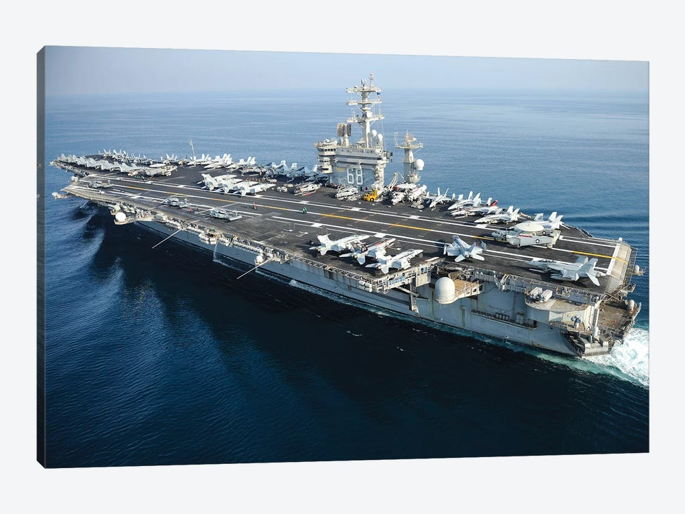 The Aircraft Carrier USS Nimitz Underway In The Arabian Gulf by Stocktrek Images 1-piece Canvas Art Print