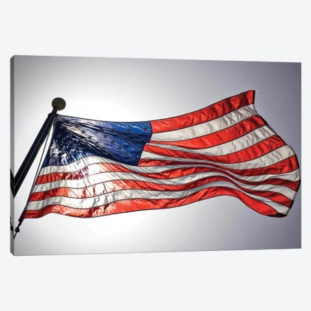 The American Flag Flies Prominently Canvas Print #TRK941} by Stocktrek Images Canvas Art