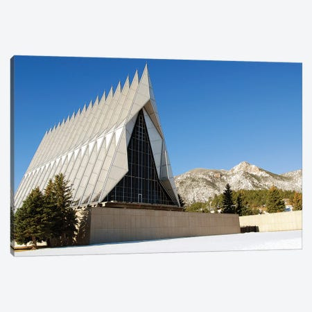 The Cadet Chapel At The US Air Force Academy In Colorado Springs, Colorado Canvas Print #TRK947} by Stocktrek Images Art Print