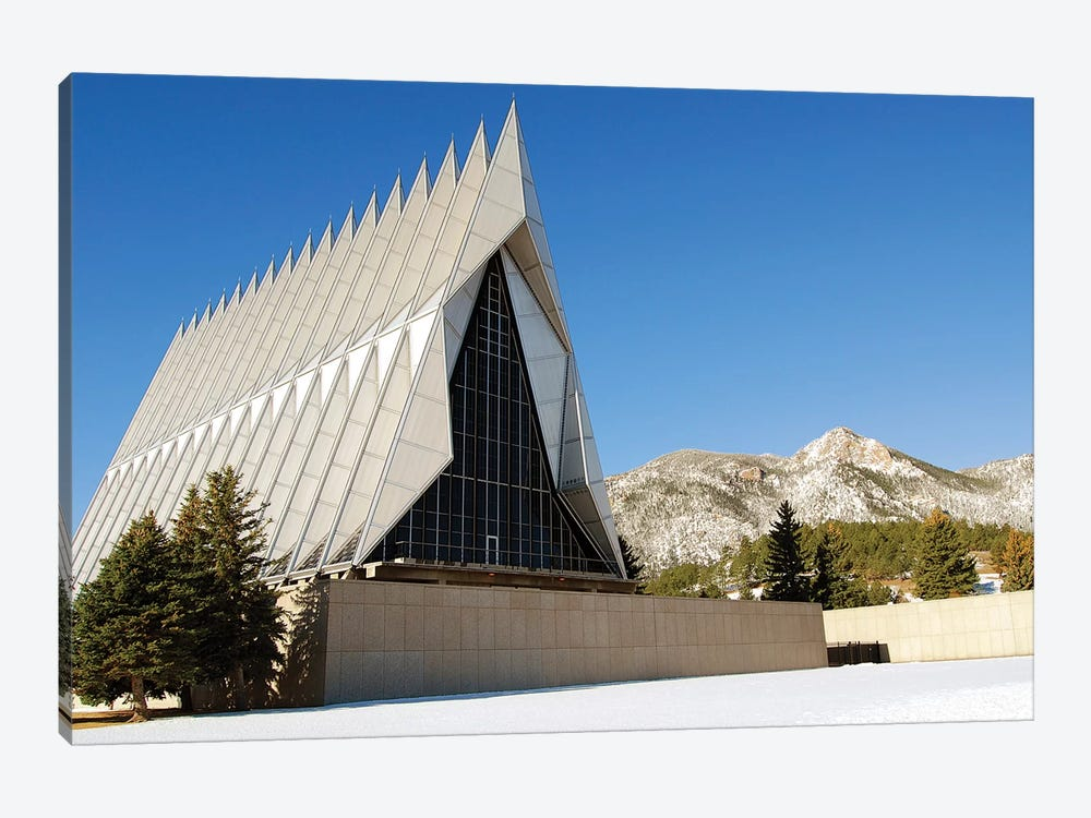 The Cadet Chapel At The US Air Force Academy In Colorado Springs, Colorado by Stocktrek Images 1-piece Canvas Art