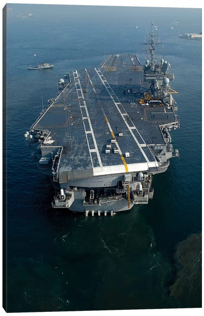 The Conventionally Powered Aircraft Carrier USS Kitty Hawk Canvas Art Print