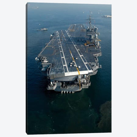 The Conventionally Powered Aircraft Carrier USS Kitty Hawk Canvas Print #TRK948} by Stocktrek Images Canvas Artwork