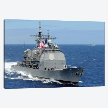 The Guided-Missile Cruiser USS Princeton Canvas Print #TRK957} by Stocktrek Images Canvas Artwork