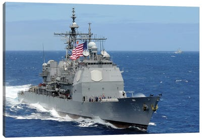 The Guided-Missile Cruiser USS Princeton Canvas Art Print