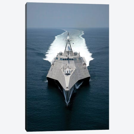 The Littoral Combat Ship Independence Underway During Builder's Trials In The Gulf Of Mexico Canvas Print #TRK959} by Stocktrek Images Canvas Print